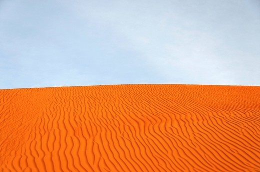 Side of a dune with ripples, Wahiba Sands, Oman, Middle East : Stock Photo