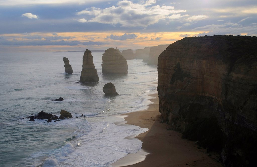 Stock Photo: 1848R-516734 Twelve Apostles, Great Ocean Road, Australia, sunset