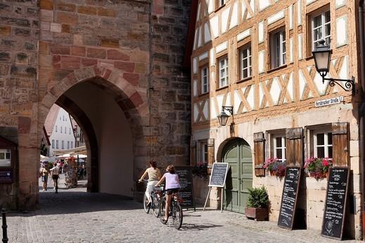 Hersbrucker Gate, Lauf an der Pegnitz, Franconia, Bavaria, Germany, Europe : Stock Photo
