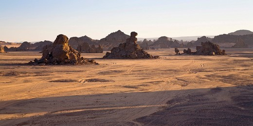 Akakus Mountains, Libyan Desert, Libya, Sahara, North Africa, Africa : Stock Photo