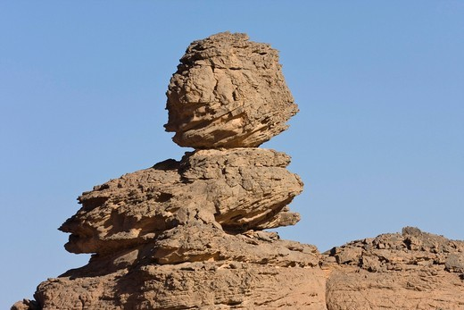 Rock formations in the Libyan Desert, Akakus Mountains, Libya, Sahara, North Africa, Africa : Stock Photo