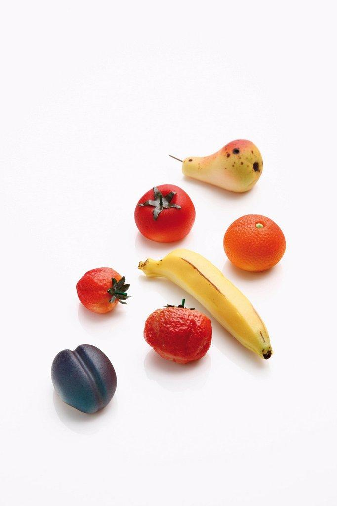 Marzipan fruits : Stock Photo