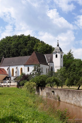 Carthusian church of the Kartause Aggsbach monastery, Wachau, Mostviertel, Lower Austria, Austria, Europe : Stock Photo