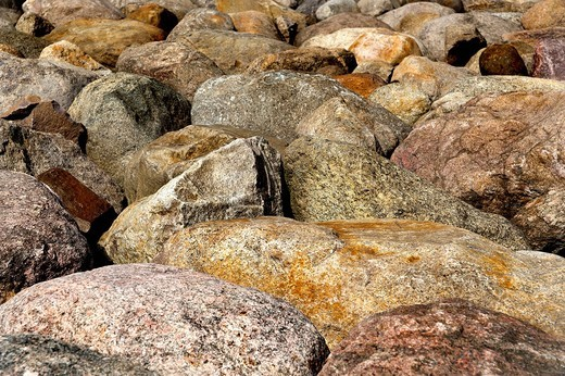 Stock Photo: 1848R-520028 Many adjacent boulders