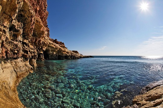 Skinias bay Karoumbes bay, Eastern Crete, Greece : Stock Photo