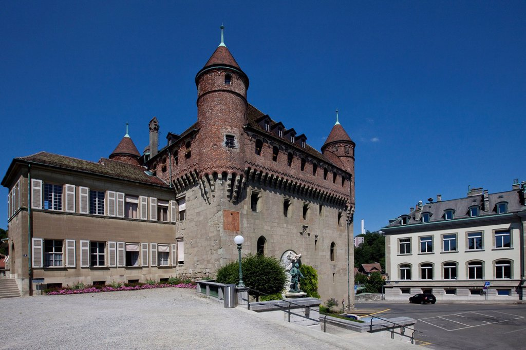 Château Saint_Maire, Lausanne, canton of Vaud, Lake Geneva, Switzerland, Europe : Stock Photo