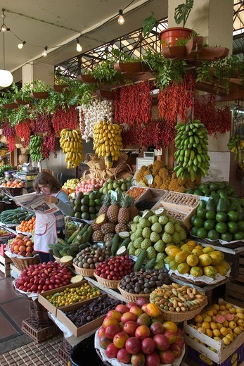 Stock Photo: 1848R-524050 Market hall Mercado dos Lavradores in Funchal _ Madeira
