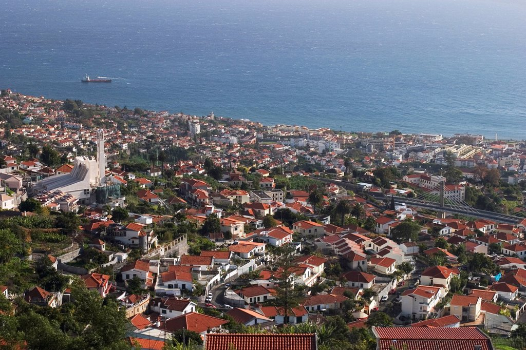 Funchal _ view from Monte _ Madeira : Stock Photo