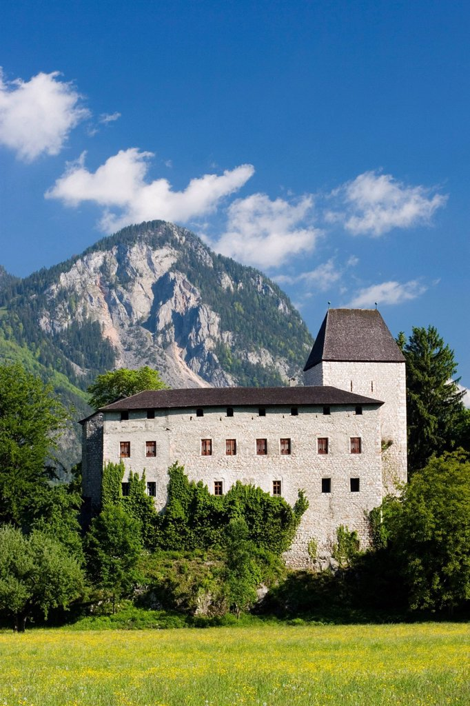Castle Lichtwarth near Münster Tyrol Austria : Stock Photo
