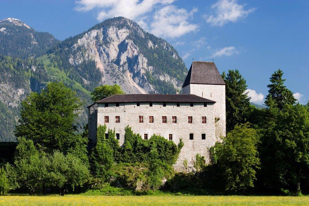 Stock Photo: 1848R-525942 Castle Lichtwarth near Münster Tyrol Austria