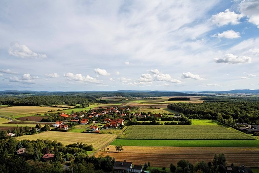 Sulzdorf, Rhoen, Franconia, Bavaria, Germany : Stock Photo