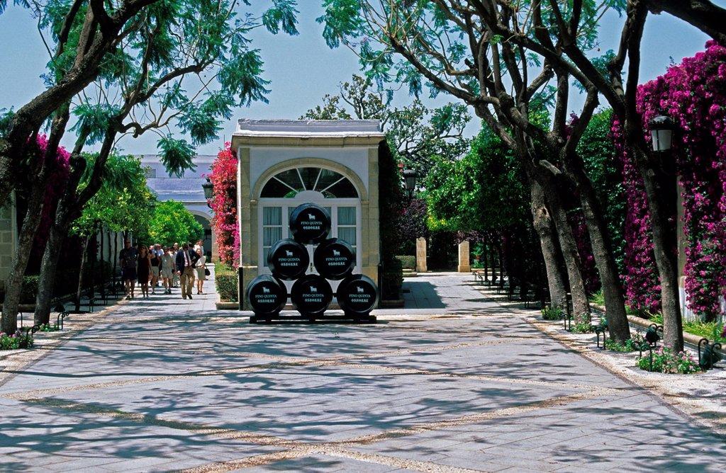 Sherry_Bodega Osborne in El Puerto de Santa María Costa de la Luz Andalusia Province Cádiz Spain : Stock Photo