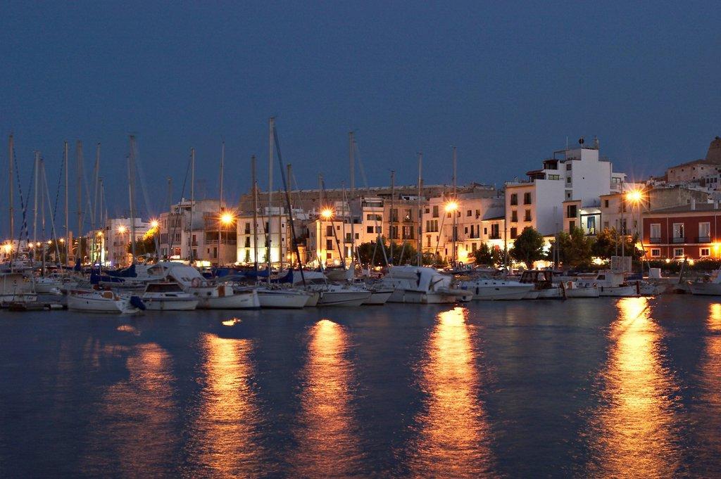 Harbour of Eivissa _ capital of Ibiza : Stock Photo