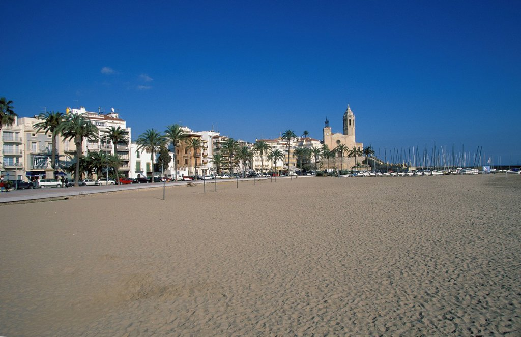 Sitges Costa de Garraf Catalonia Spain : Stock Photo