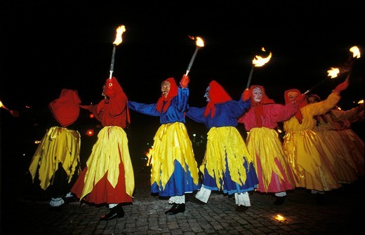 Stock Photo: 1848R-526974 Witches dance Kirchseeon Upper Bavaria Germany
