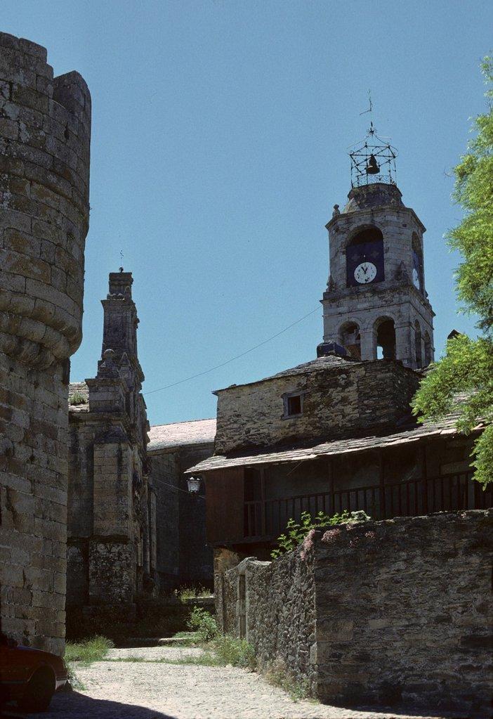 Puebla de Sanabria _ Castilla y Leon _ Province Zamora Spain : Stock Photo