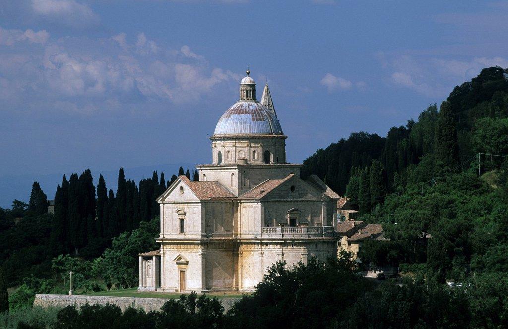 Church Madonna de San Biagio Montepulciano Tuscany Italy : Stock Photo