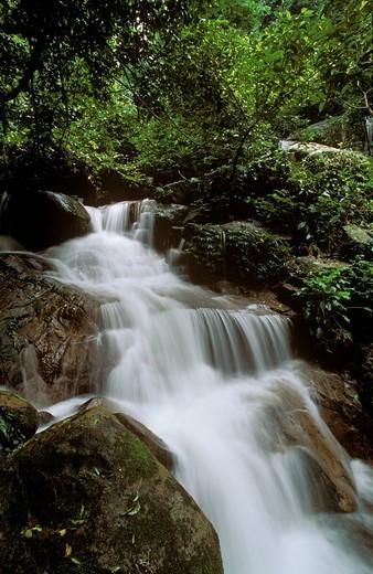 Stock Photo: 1848R-528242 Waterfall on island Tioman Malaysia