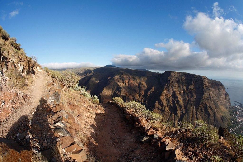 Stock Photo: 1848R-528281 Valle Gran Rey, La Gomera, Canary Islands, Spain