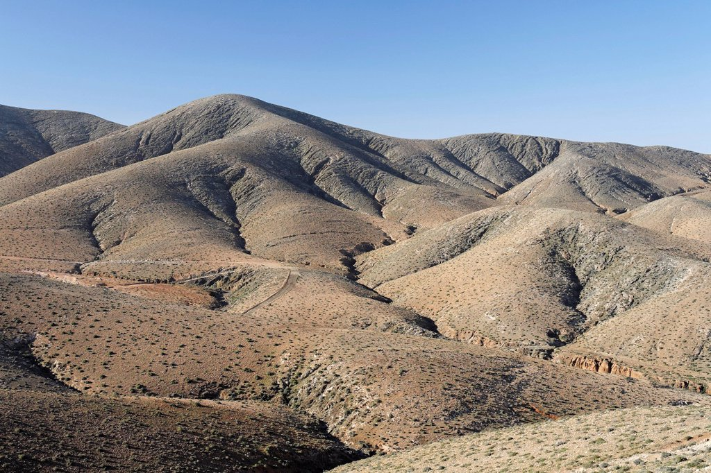 Stock Photo: 1848R-528813 Mountains near Cardon , Fuerteventura , Canary Islands