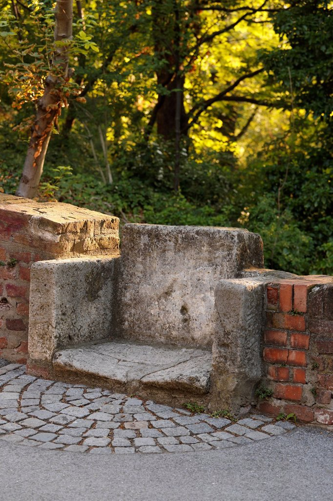Stock Photo: 1848R-623554 Bishop´s chair, Schlossberg, castle hill, Graz, Styria, Austria, Europe