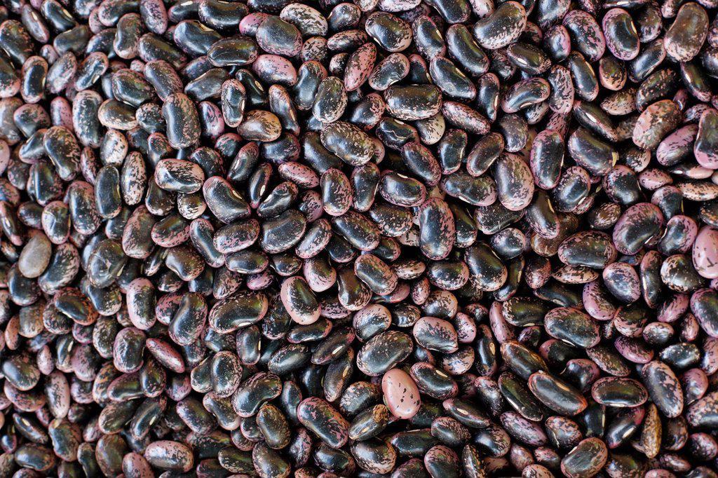 Stock Photo: 1848R-623666 Runner beans, farmers´ market at Kaiser_Josef Platz square, Graz, Styria, Austria, Europe