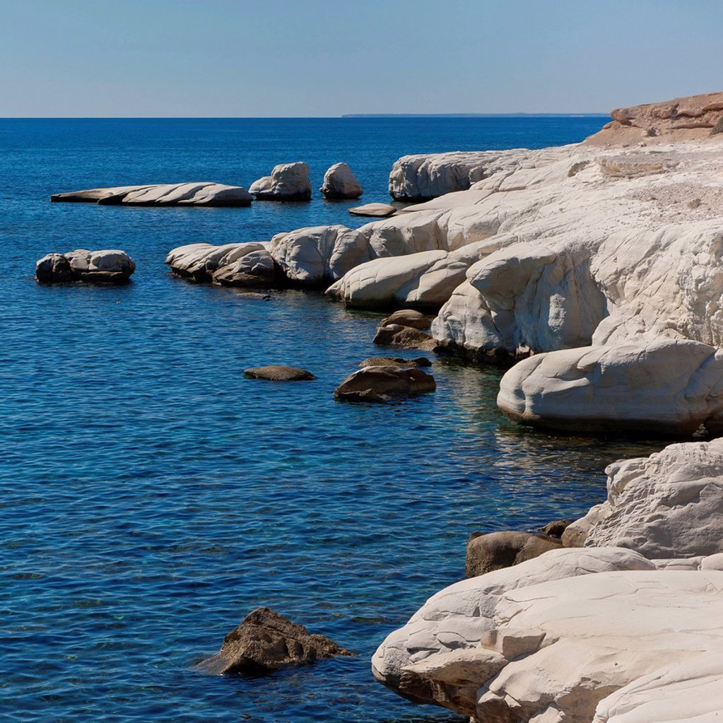 Stock Photo: 1848R-633478 Rocks at Governor´s Beach, Southern Cyprus, Greek Cyprus, South Eastern Europe, Europe
