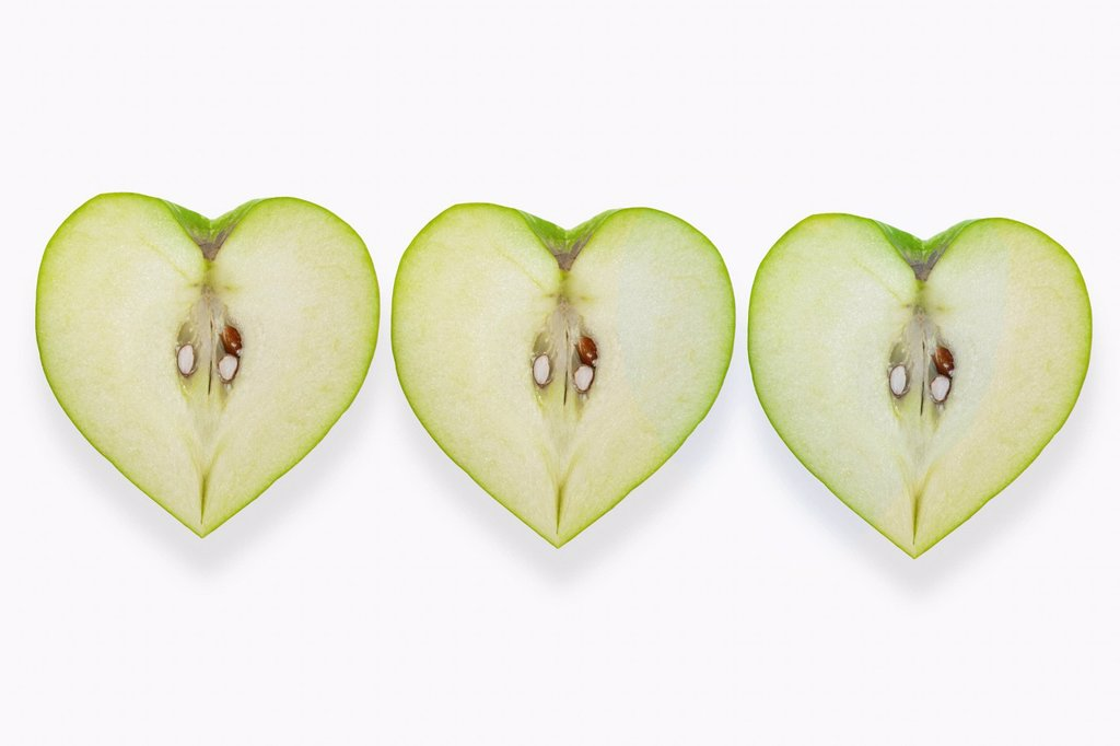 Heart_shaped apples : Stock Photo