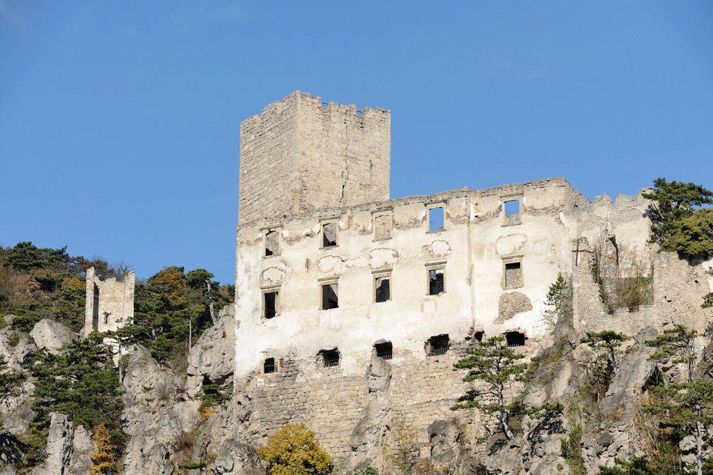 Stock Photo: 1848R-637373 Ruins of Rauhenstein Castle, Baden, Lower Austria, Austria, Europe