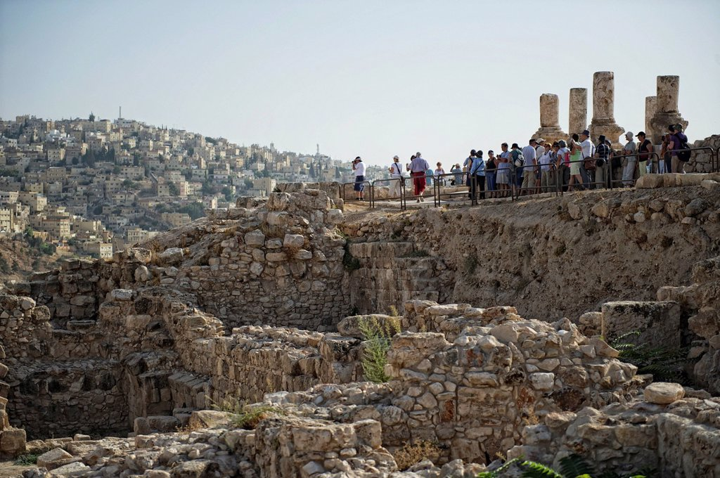 Stock Photo: 1848R-637636 Hercules Temple on Citadel Hill in Amman, the capital of the Hashemite Kingdom of Jordan, Middle East, Asia