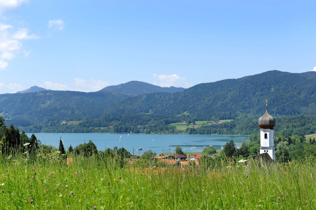 Gmund am Tegernsee, St. Giles´ Parish Church, Upper Bavaria, Bavaria, Germany, Europe, PublicGround : Stock Photo