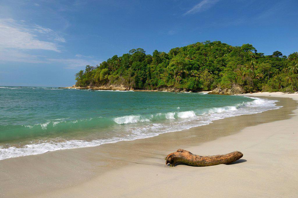 Stock Photo: 1848R-638753 White sandy beach, Manuel Antonio National Park, central Pacific Coast, Costa Rica, Central America