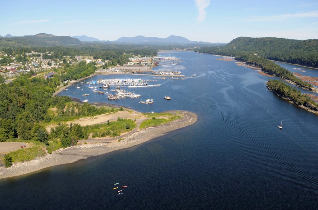 Aerial view of Ladysmith Harbour, Vancouver Island, British Columbia, Canada : Stock Photo