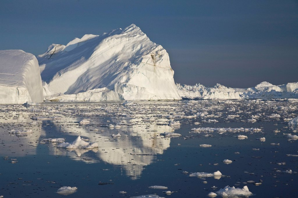 Iceberg with reflection, Greenland : Stock Photo