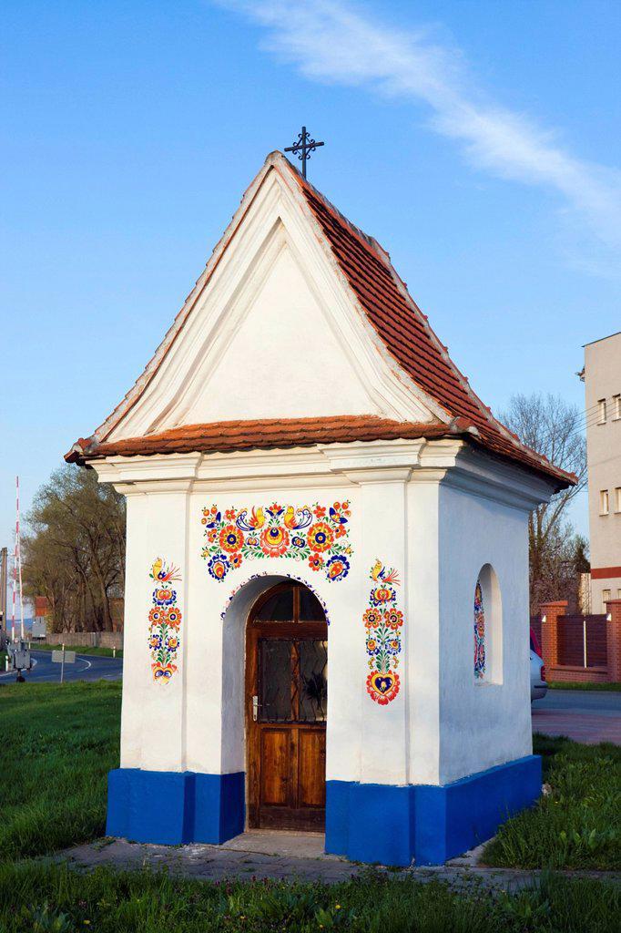 Stock Photo: 1848R-641361 Chapel of St. John of Nepomuk, built in 1701, Straznice, Hodonin district, South Moravia region, Czech Republic, Europe