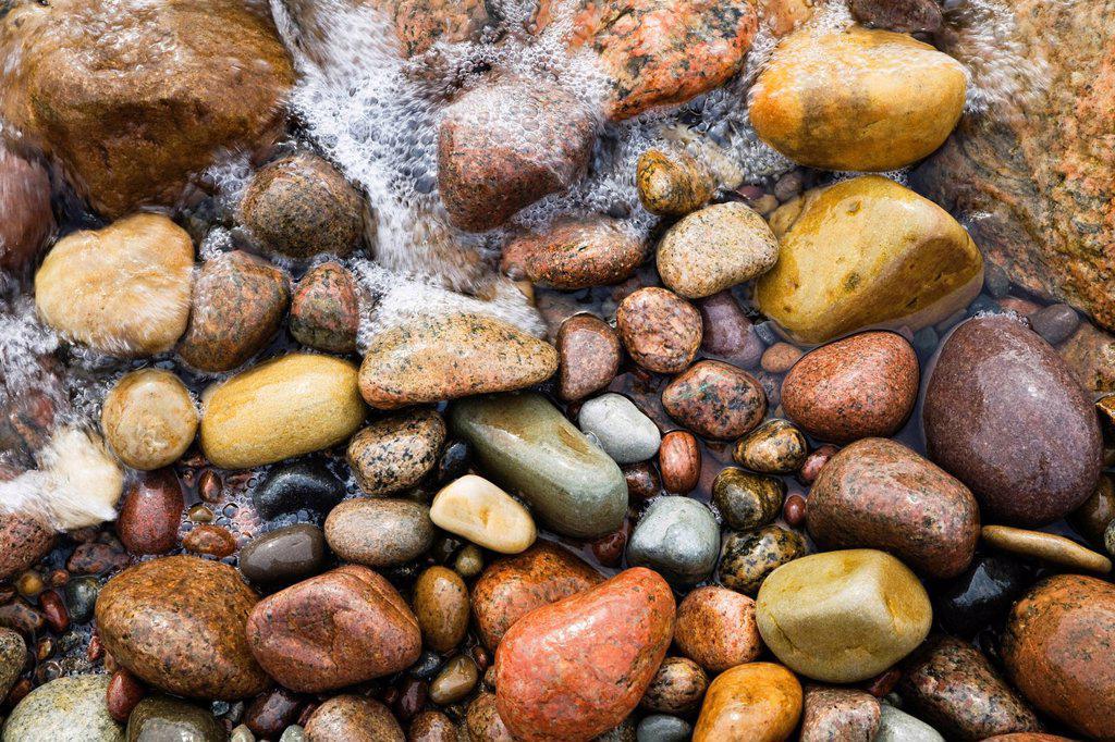 Stock Photo: 1848R-643589 Stones on the beach of Bornholm, Baltic Sea, Denmark, Europe