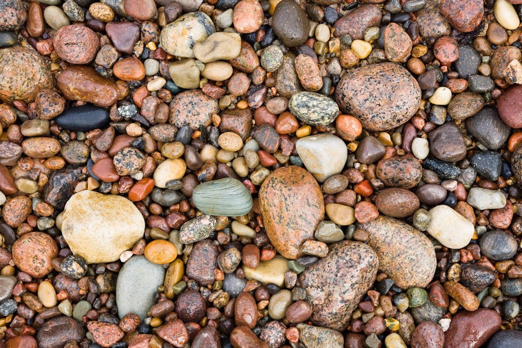 Stock Photo: 1848R-643590 Stones on the beach of Bornholm, Baltic Sea, Denmark, Europe
