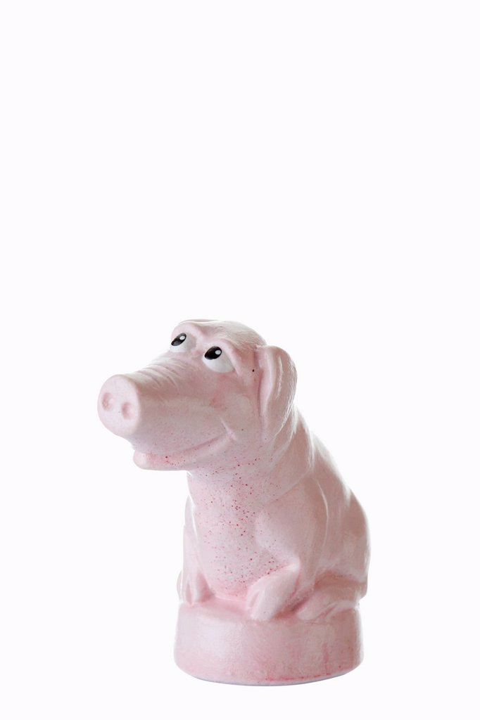 Stock Photo: 1848R-643725 Cartoon character, pink piggy