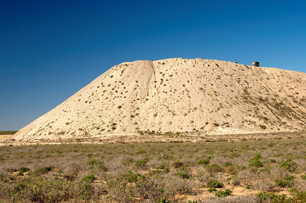 Slag heap of a diamond mine, Muisvlak, Northern Cape province, South Africa, Africa : Stock Photo