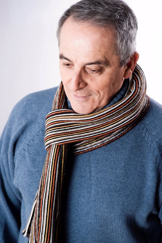 Stock Photo: 1848R-644886 Elderly man with a sad expression