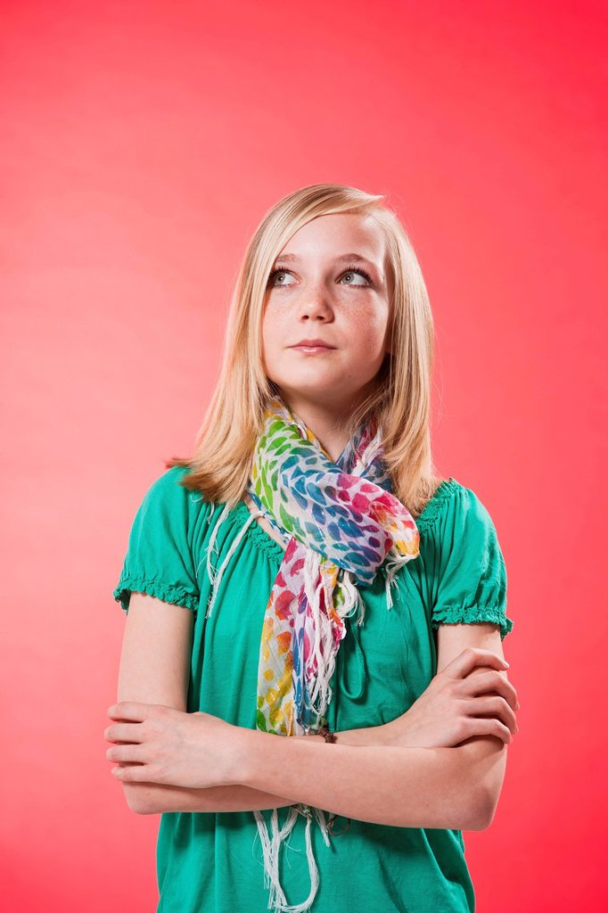 Stock Photo: 1848R-646144 Thoughtful blonde girl