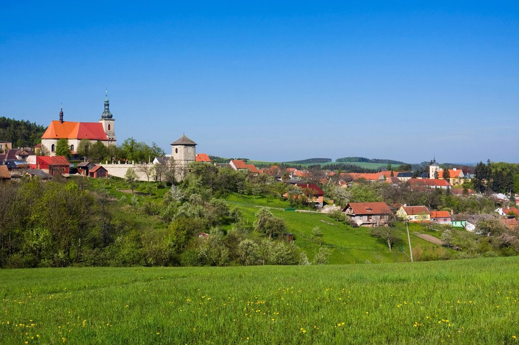 Strilky, Kromeriz district, Zlin region, Moravia, Czech Republic, Europe : Stock Photo