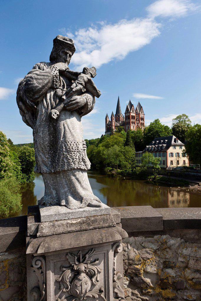 Limburg Cathedral, Limburg, Hesse, Germany, Europe : Stock Photo