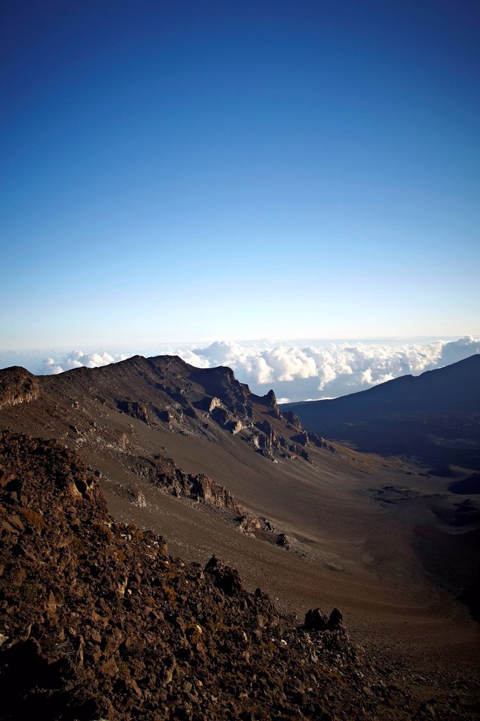 Stock Photo: 1848R-737682 Haleakala, shield volcano, Haleakala National Park, Maui, Hawaii, USA