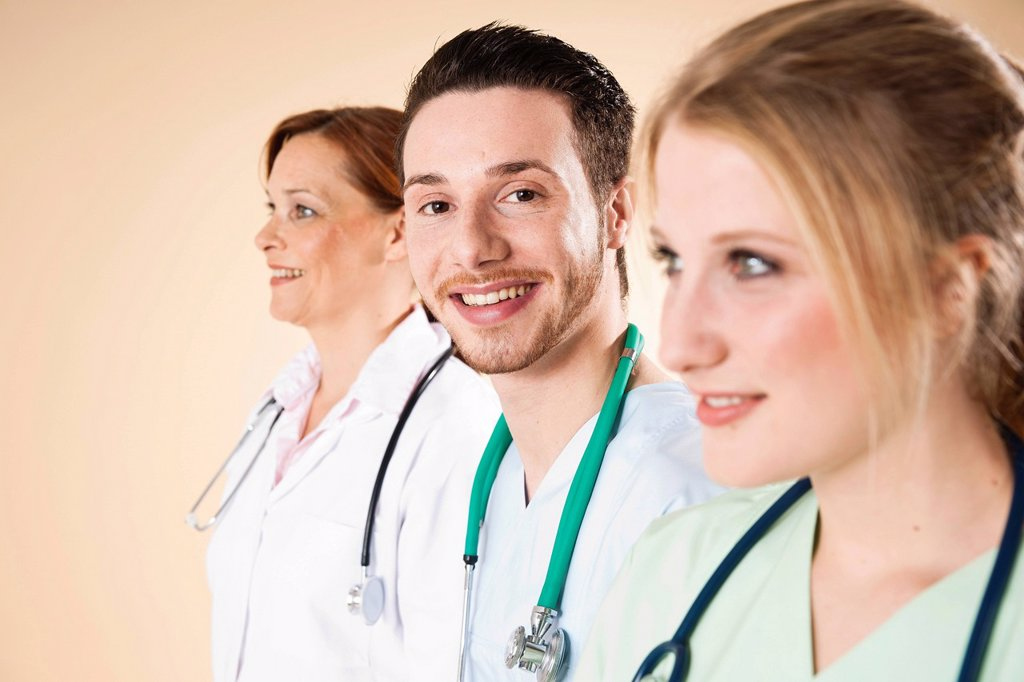 Stock Photo: 1848R-740454 Medical staff with friendly smiles