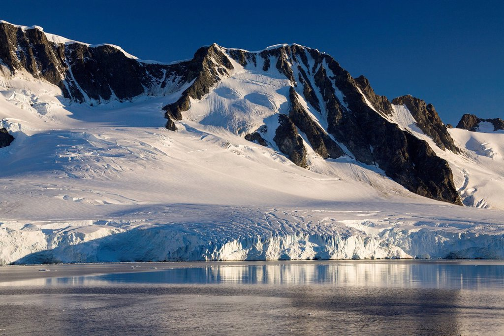 Neumayer Channel near Port Lockroy, Antarctic Peninsula, Antarctica : Stock Photo