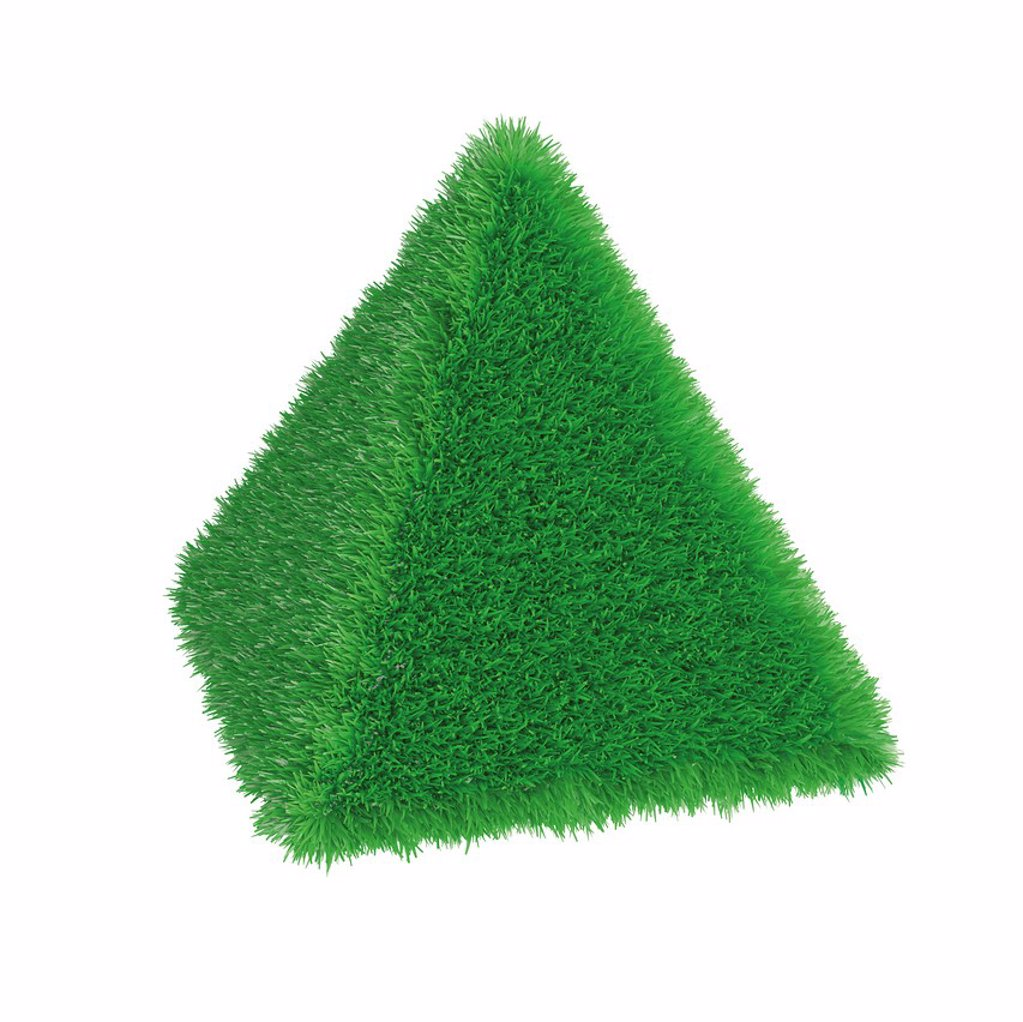 Pyramid covered with grass, 3D illustration, concept, environment, ecology, nature : Stock Photo