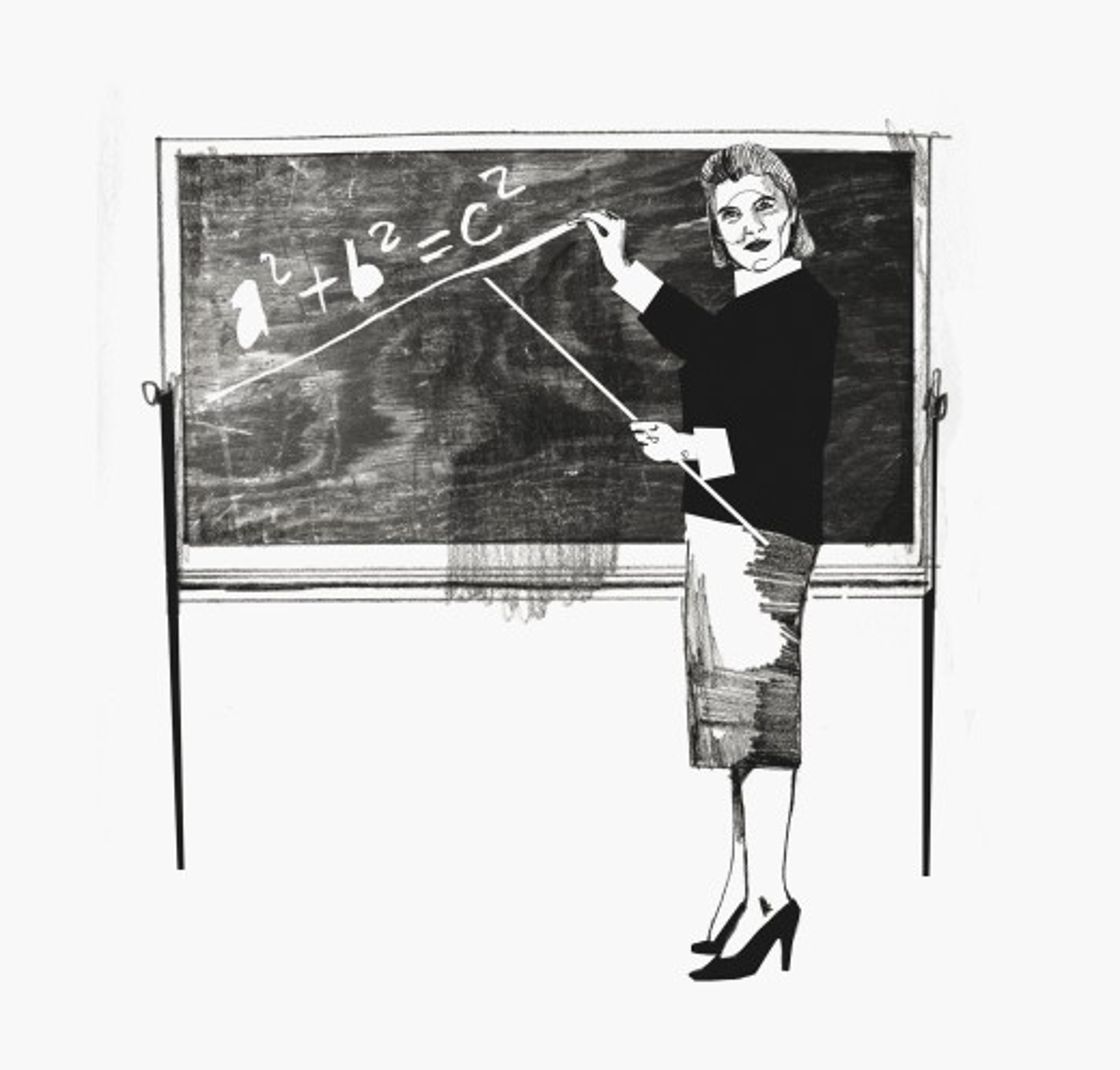 Woman teaching math : Stock Photo
