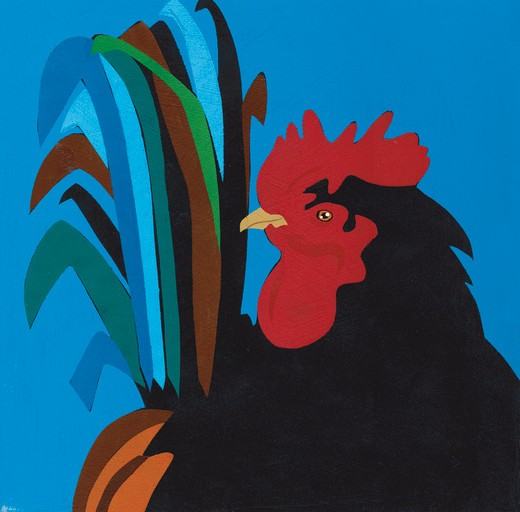 Portrait of rooster : Stock Photo