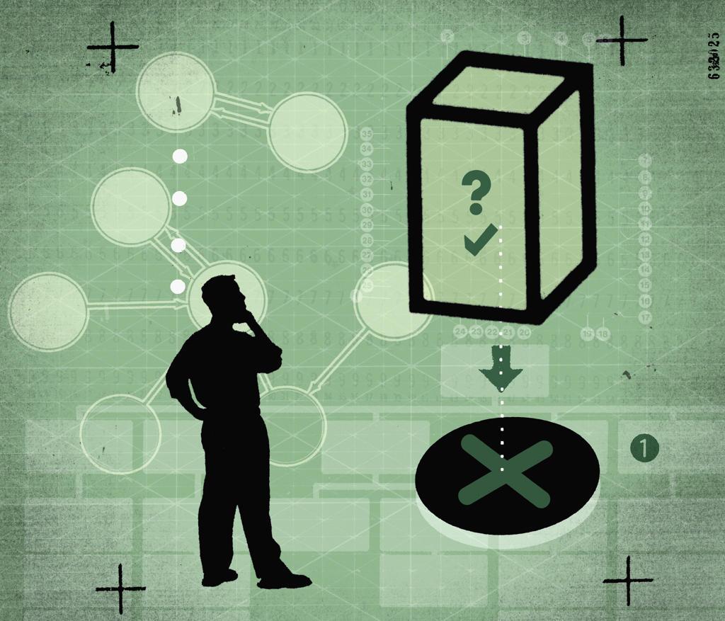 Stock Photo: 1849-147 Businessman solving puzzle